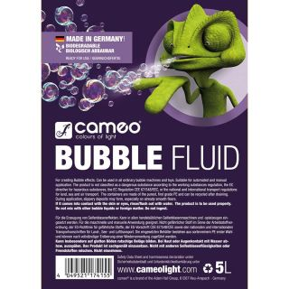 1 Cameo BUBBLE FLUID 5L - Liquido speciale per la generazione di bolle di sapone 5l