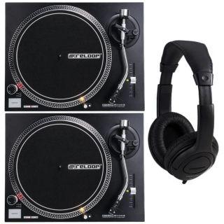 Reloop RP 2000 USB MKII MK2 Coppia di Giradischi per DJ con Cuffie