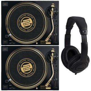 Reloop RP 7000 MKII LE Gold Coppia Giradischi per DJ con Cuffie