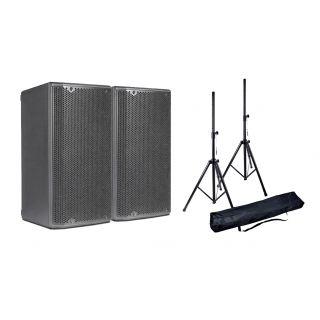DB TECHNOLOGIES Coppia OPERA 15 Speaker Amplificato 1200W con Stativi e Borsa in Omaggio