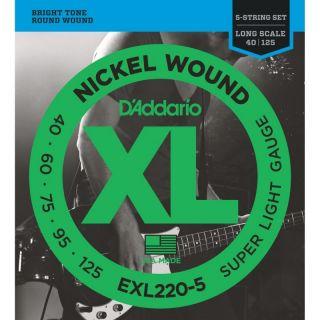 D'Addario EXL220-5 - Muta per Basso 5 Corde (040-125)