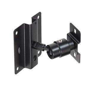 0 SOUNDSATION - Supporto per diffusori nero con fissaggio a muro con regolazione omniball