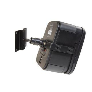 1 SOUNDSATION - Supporto per diffusori nero con fissaggio a muro con regolazione omniball