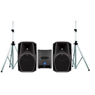 DB TECHNOLOGIES Sistema Audio Coppia CROMO 8+ / Subwoofer / Stativi Bundle