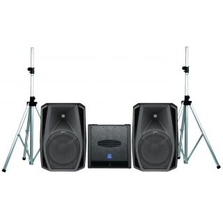 DB TECHNOLOGIES Sistema Audio Coppia CROMO 12 CLUB / Subwoofer / Supporti Bundle