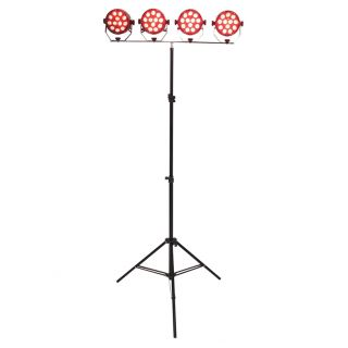 Ibiza DJLIGHT80LED - Stand per Luci con 4 PAR LED RGBW