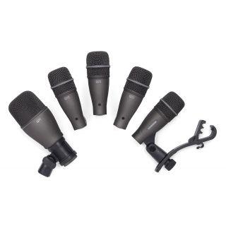 SAMSON DK 705 - Kit 5 Microfoni Professionali per Batteria