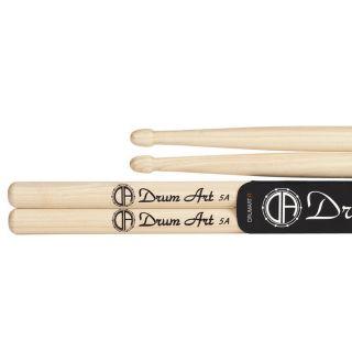 Drum Art Hickory 5A - Coppia Bacchette per Batteria Punta a Ghianda