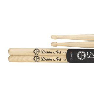 Drum Art Hickory 7A - Coppia Bacchette per Batteria Punta a Ghianda