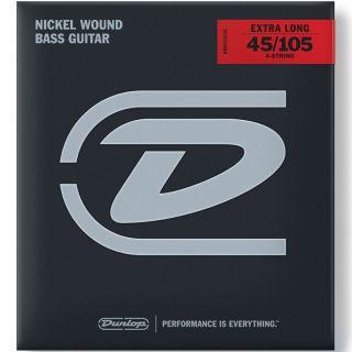 Dunlop DBN45105XL - Set di Corde per Basso Elettrico Scala Extra Lunga 45/105