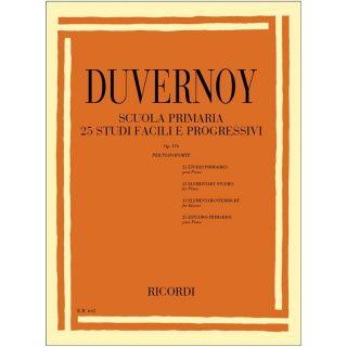 1 Duvernoy Ricordi Scuola Primaria 25 Studi Facili e Progressivi