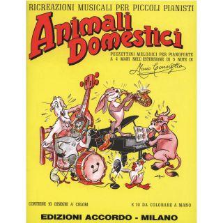 Edizioni Accordo Animali Domestici - Ricreazioni Musicali per Piccoli Pianisti