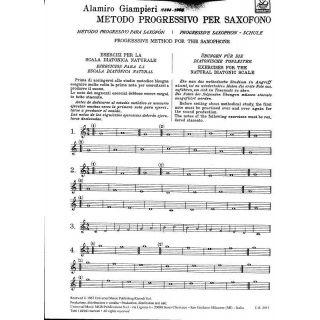 3 Alamiro Giampieri Ricordi Metodo Progressivo Sassofono