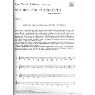 2 Metodo per Clarinetto Vol. I Lefèvre Ed. A. Giampieri Ricordi