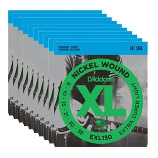 D'ADDARIO EXL130 X SUPER LIGHT x 10