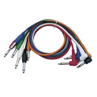0 DAP-Audio - FL14 - 6 coloured unbal. patch straight > 90° - 60 cm