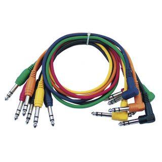0 DAP-Audio - FL15 - 6 coloured bal. patch straight > 90° - 90 cm