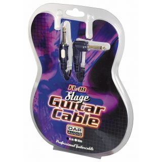 1 DAP-Audio - FL18 - Stage Guitarcable straight Ø6 mm 90° - 6 m