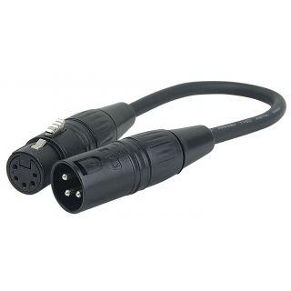 0 DAP-Audio - 3 pin XLR Male to 5 pin XLR Female - 25 cm