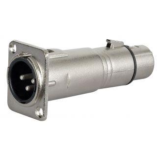 0 DAP-Audio - FLA51 - XLR M. 3p. chassis > XLR F. 3p. - Adapters
