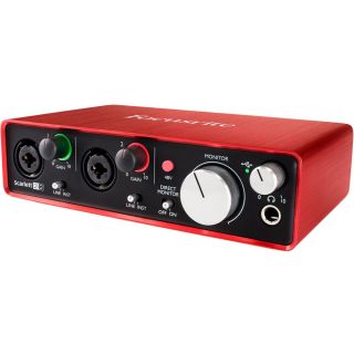 Focusrite scarlett 2i2 2nd side