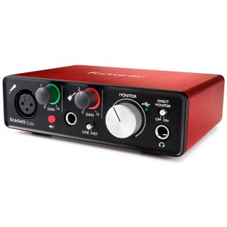 Focusrite scarlett solo 2nd side