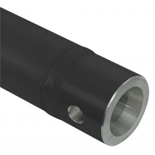 2 Showtec - Single Tube 50mm, 200 cm - Traliccio F con ricevitori femmina, colore: Nero