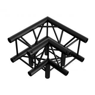 0 Showtec - Corner 3-way 90° - NERO, traliccio Pro-30 quadrato F