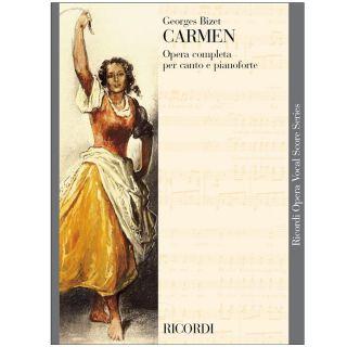 1 Georges Bizet Ricordi Carmen Spartiti Canto e Pianoforte