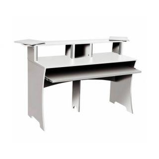 Glorious Workbench White - Console di Lavoro Compatta