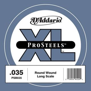 0 D'ADDARIO PSB035 - ProSteels Bass Guitar Single String, Long Scale, .035