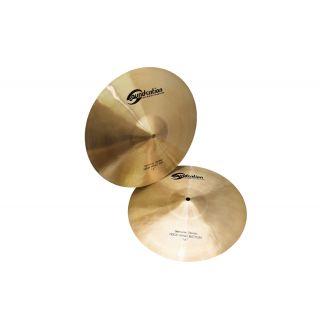 SOUNDSATION Set di Piatti per Batteria Acustica 2 Hi-Hat 14 e 1 Ride 20