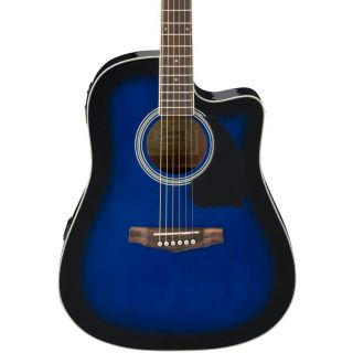 Ibanez PF15ECE Transparent Blue Sunburst - Chitarra Acustica Elettrificata Amplificata Blu02