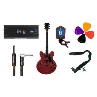 Guitar Recording Pack: iRig HD2 / Chitarra Elettrica Semiacustica / Accessori