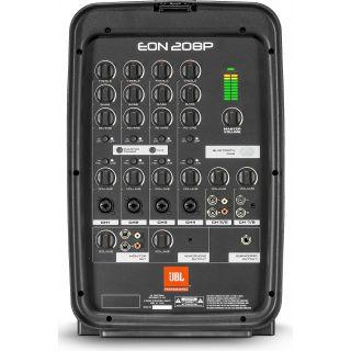 jbl eon208p mixer front