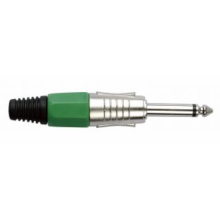 0 DAP-Audio - 6.3 mm Jackplug Mono, Nickel housing - Cappuccio finale verde