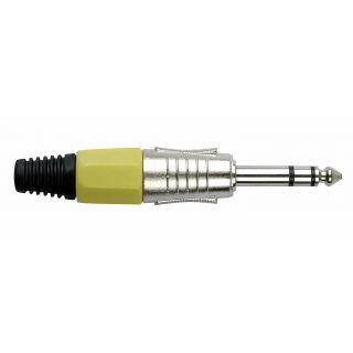 0 DAP-Audio - 6.3 mm Jackplug Stereo, Nickel housing - Cappuccio finale giallo