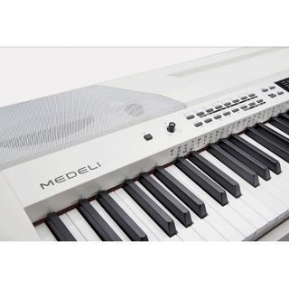 1 MEDELI SP-4200-WH - Stage Piano Con Tastiera A 88 Tasti Hammer Action, Accompagnamenti Automatici E Finitura Di Colore Bianco.