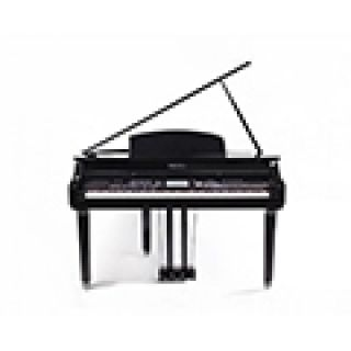 """3 MEDELI GRAND 1000 - Pianoforte Digitale A Coda Con Tastiera A 88 Tasti Hammer Action, Finitura In Nero Laccato E Display Con Touch Screen A Colori Ad Alta Definizione Da 7""""."""
