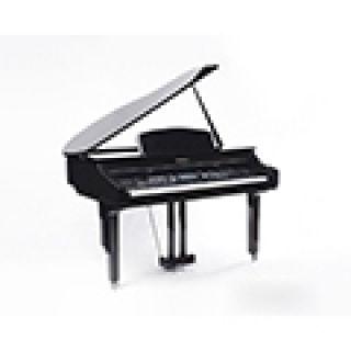"""4 MEDELI GRAND 1000 - Pianoforte Digitale A Coda Con Tastiera A 88 Tasti Hammer Action, Finitura In Nero Laccato E Display Con Touch Screen A Colori Ad Alta Definizione Da 7""""."""