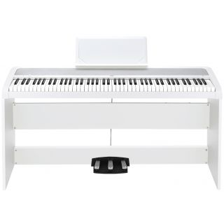 Korg B1 SP White - Pianoforte + Stand + Pedale02