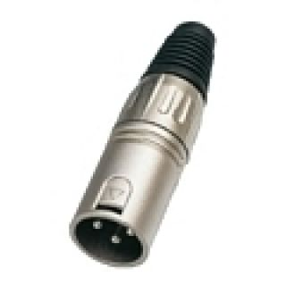 1 SOUNDSATION SXLR01M - Connettore XLR Maschio 3 Poli In Metallo Satinato (conf. 4 Pezzi)
