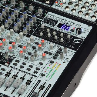 2 SOUNDSATION - Mixer Professionale a 24 canali di alta qualità con processore effetti Ambient Pro® e scheda audio USB I/O