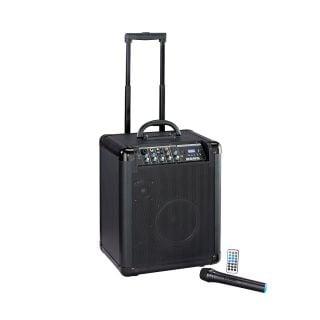 0 SOUNDSATION - Sistema PA a Batteria con Trolley, Radiomicrofono UHF, Bluetooth™, Lettore MP3 E Reverbero