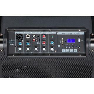 1 SOUNDSATION - Sistema PA a Batteria con Trolley, Radiomicrofono UHF, Bluetooth™, Lettore MP3 E Reverbero