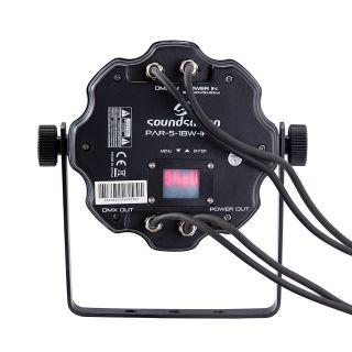 1 SOUNDSATION - PAR CAN Flat per Uso Esterno 5x18W RGBWA+UV 6in1