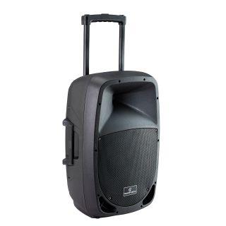 1 SOUNDSATION - Cassa Attiva a 2-vie Portatile a Batteria con Trolley e lettore MP3/Bluetooth™