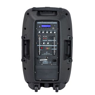 2 SOUNDSATION - Cassa Attiva a 2-vie Portatile a Batteria con Trolley e lettore MP3/Bluetooth™