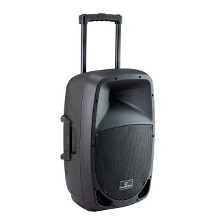 1 SOUNDSATION - Cassa Attiva a 2-vie Portatile a Batteria con Trolley e lettore MP3/Bluetooth™