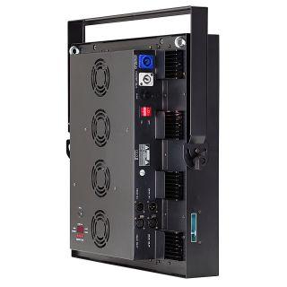 2 SOUNDSATION - Set composto da 4 accecatori 16x30W RGB COB slim modulari con Flight case